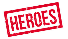 Heroes rubber stamp Stock Photo