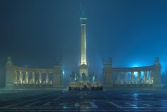 Heroes Square. This is the most famous square of Budapest. This place is one of the primary targets of anyone visiting the city Royalty Free Stock Photo