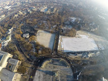 Heroes square from above Royalty Free Stock Photography