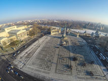 Heroes square from above Royalty Free Stock Photo