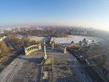 Heroes square from above Stock Photo