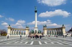 Heroes Square in Budapesht, Hungary stock photos