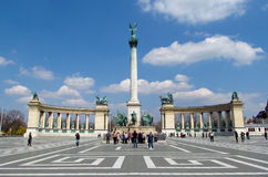 Heroes Square in Budapesht, Hungary Stock Photos