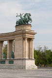 The Heroes square in Budapest. Stock Image
