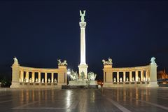 Heroes square in Budapest Royalty Free Stock Images