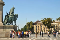 Heroes' Square in Budapest Royalty Free Stock Photography
