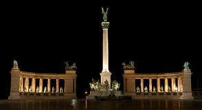 Heroes' Square in Budapest Stock Photo