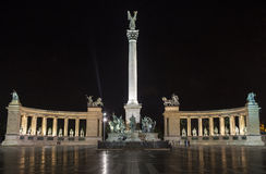 Heroes Square in Budapest. The historic Heroes Square in Budapest, Hungary Royalty Free Stock Photography