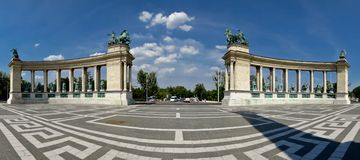 Heroes Square in Budapest Royalty Free Stock Photo