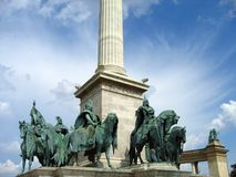 Heroes' Square - Budapest, Hungary royalty free stock photo