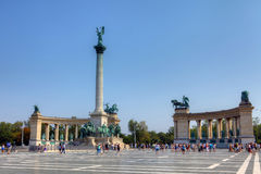 Heroes' Square in Budapest, Hungary Royalty Free Stock Images