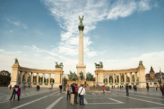 Heroes Square in Budapest (Hungary) Stock Photo