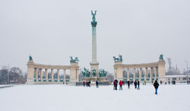 Heroes square in Budapest, Hungary Royalty Free Stock Photography