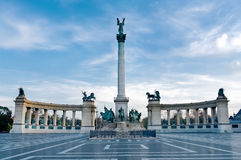 Heroes Square in Budapest Stock Photo