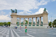 Heroes Square in Budapest Stock Photography