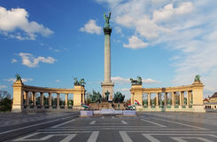 Heroes Square in Budapest, Hungary royalty free stock image