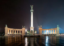 Heroes' Square. In Budapest, Hungary Stock Images