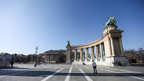 Heroes' square in Budapest Stock Image