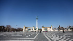 Heroes' square in Budapest Royalty Free Stock Photo