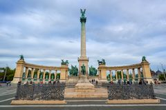 Heroes square in Budapest Hungary. Heroes square in Budapest, Hungary royalty free stock photography