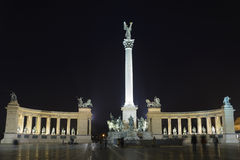 Heroes square, Budapest, Hungary Stock Image