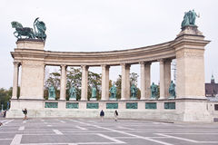 Heroes Square in Budapest, Hungary Stock Photo