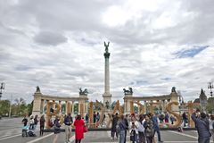 Heroes Square in Budapest, Hungary royalty free stock images