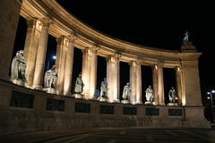 Heroes Square Budapest Night Royalty Free Stock Photography