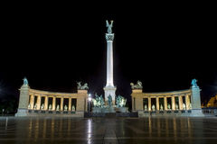 Heroes' square in Budapest Stock Photos