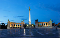 Heroes' Square in Budapest Stock Photography