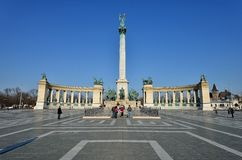 Heroes' Square, Budapest Stock Photos