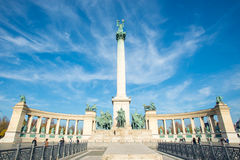 Heroes Square, Budapest. A picture of Heroe's Square (Hosok Tere) in Budapest, Hungary. It is one of the main sights of the city Stock Photo