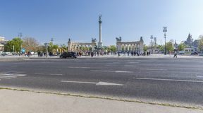 Heroes Square in Budapest Stock Images