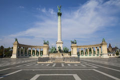 Heroes Square in Budapest. A view of the magnificent Heroes Square in Budapest, Hungary Royalty Free Stock Photography
