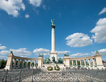 Heroes' Square or Hosok Tere Stock Photography