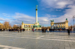 Heroes square (Hosok tere), Budapest, Hungary Royalty Free Stock Photos