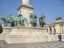 Heroes square Royalty Free Stock Photos