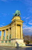 Heroes square, left colonnade, Budapest, Hungary Royalty Free Stock Photography