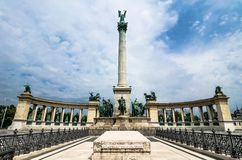 Heroes Square with Millenium Memorial Royalty Free Stock Photos