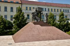 Heroes Square of Miskolc Stock Photo