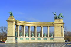 Heroes square monument Budapest Royalty Free Stock Image