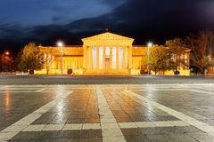 Heroes Square - The Museum of Fine Arts in Budapest.  Royalty Free Stock Photography