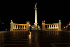Heroes Square by night Stock Image