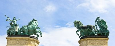 Heroes Square Statues Royalty Free Stock Image