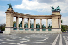 Heroes squere in Budapest. Heroes Square (Hosok tere) in Hungarian capital of Budapest Royalty Free Stock Images