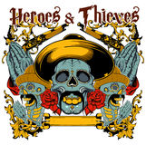 Heroes and thieves Royalty Free Stock Photos