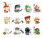 Heroes Villains Minions Fantasy RPG Game Character Vector Icons Set Vector Illustration Royalty Free Stock Image