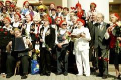 Heroes of World War II.Chorus veterans. Royalty Free Stock Photo