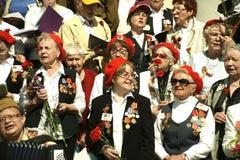 Heroes of World War II.Chorus veterans. Royalty Free Stock Image