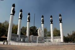 Heroic Cadets Memorial in Chapultepec Park. Memorial to Boy Cadets or Heroic Cadets in Mexico city, Chapultepec park Stock Photography